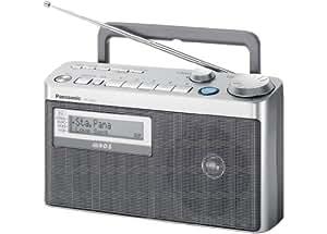 Panasonic RF-U350EG-S Radio portable Tuner numérique 10 mémoires FM Argent