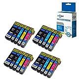 ECSC Kompatibel Tinte Patrone Ersatz für Epson XP510 XP520 XP600 XP605 XP610 XP615 XP620 XP625 XP700 XP710 XP720 XP800 XP810 XP820 26XL (Schwarz/Foto-Schwarz/Cyan/Magenta/Gelb, 20-Pack)