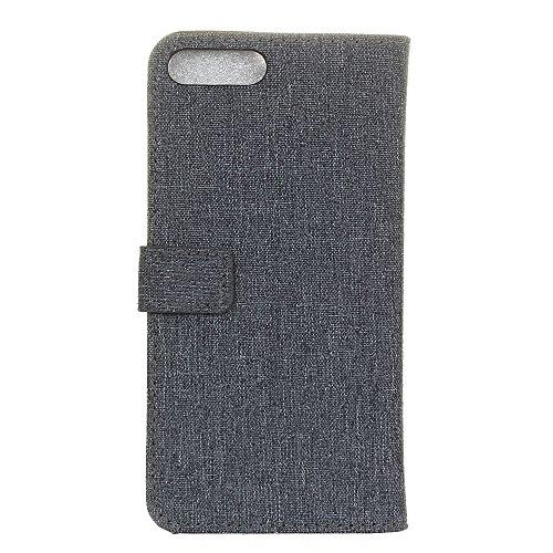 """MOONCASE iPhone 7 Coque, [Motif de Tissu] Housse en Cuir Etui à rabat pour iPhone 7 4.7"""" Portefeuille Porte-cartes TPU Case avec Béquille Rouge Saphir"""