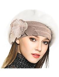 Femme Laine Béret Français Cloche Angola Robe Bonnet Calotte Chapeaux ... fd0a206b478