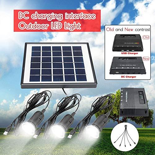 WANGYONGQI Neue Outdoor Solar Power Led Beleuchtung Lampensystem Solar Panel System Kit für zu Hause 4W 6V Solar für Outdoor Power Panel LED Licht Lampe (Vcr-kit)
