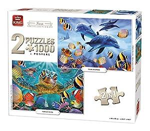 King Sea Collection 2in1 Puzzle - Rompecabezas (Puzzle Rompecabezas, Fauna, Adultos, Prodigar, Hombre/Mujer, 8 año(s))