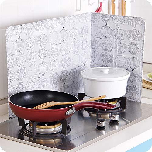 Colorful Küchen Antihaft Spritzschutz, Dreiseiten Spritzschutz, gegen Ölspritzer, Bratpfannen Öl Gasherd Abdeckung schützt schützt Haut vor Bränden Keeps Kitchen Clean (C)