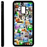 Custodia cover TPU GEL per Samsung Galaxy A8 2018 / A5 2018 -SB nera 226 app