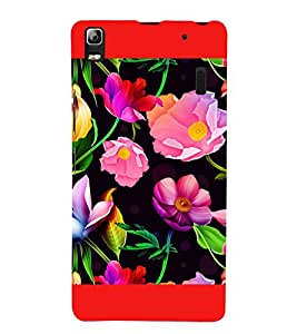 Flowers Pattern 3D Hard Polycarbonate Designer Back Case Cover for Lenovo A7000 :: Lenovo A7000 Plus :: Lenovo K3 Note