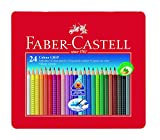 Faber-Castell 112423 Farbstift Colour Grip Blechetui 24er
