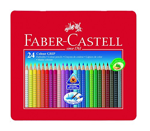 Faber-Castell 112423 - Farbstift Colour Grip Blechetui 24er