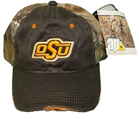 NEW! Oklahoma State Cowboys Buckle Back Embroidered RealTree Distressed Camo Cap by Outdoor Cap Company