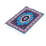 #10: MagiDeal 12th Scale Dolls House Miniature Rug Turkish Style Woven Floral Floor Cover Carpet Furniture Accessory 25cm x 15cm A#