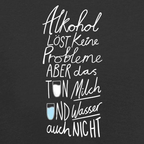 Alkohol löst keine Problem - Herren T-Shirt - 13 Farben Schwarz