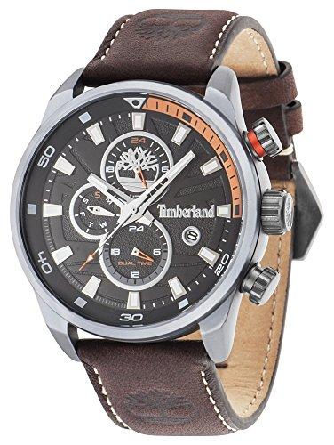 Timberland Herren Chronograph Quarz Uhr mit Leder Armband TBL.14816JLU/02A