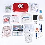 Kit di primo soccorso, borsa di emergenza, set con 10 pezzi bende adesive per home office auto viaggi campeggio di sopravvivenza sport