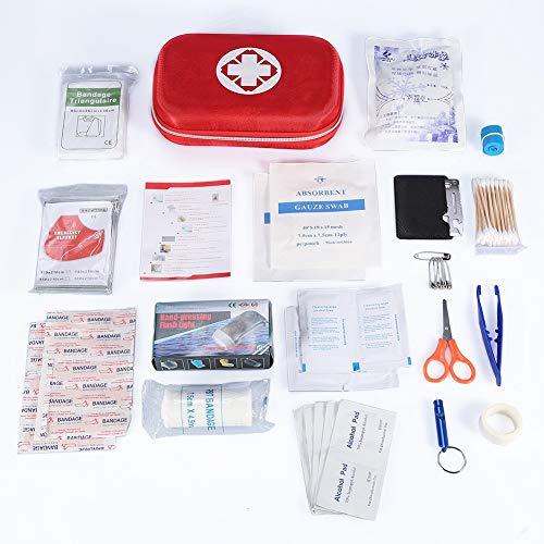 Erste-Hilfe-Set, Notfalltasche, Erste-Hilfe-Set Notfallrettungstasche Behandlungskoffer-Set mit 10 Klebebändern für das Büro zu Hause Auto Reise Camping Überleben Outdoor-Sportarten -