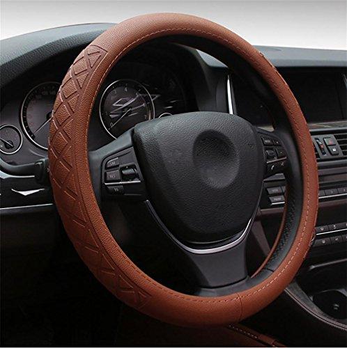 Ruirui Vera pelle auto volante Cover universale 15 pollici accessori interni Automotive - nero, resistente, traspirante, Anti slittamento, inodore , coffee color