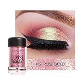 Barbarer Lidschatten Palette, Glitter Perlglanz Lidschatten Pulver Eye Shadow Makeup Pearl Schimmer Metallic Kosmetik Eyeshadow Palette -18 Farben (12)