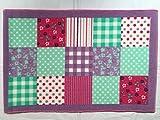 New Kinder Schlafzimmer Designer Fußmatte Teppich Teppich Rosa Patchwork Muster