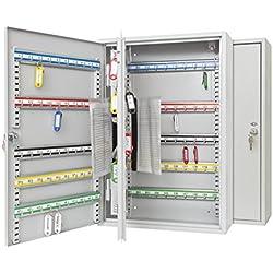 Wedo 10272037X Armoire à clés pour 200 clés 55 x 38 x 14 cm Gris lumière