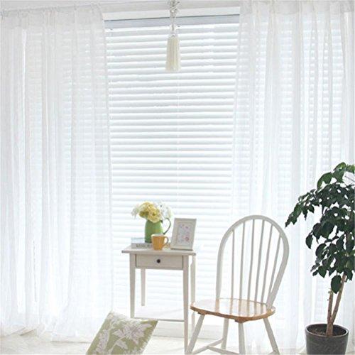 Preisvergleich Produktbild GUOCAIRONG® Tulle Vorhänge Schlafzimmer Translucidus Modern Home Fenster Dekoration Weiß Sheer Voile Vorhänge für Wohnzimmer 1 Stück , 4*2.7m