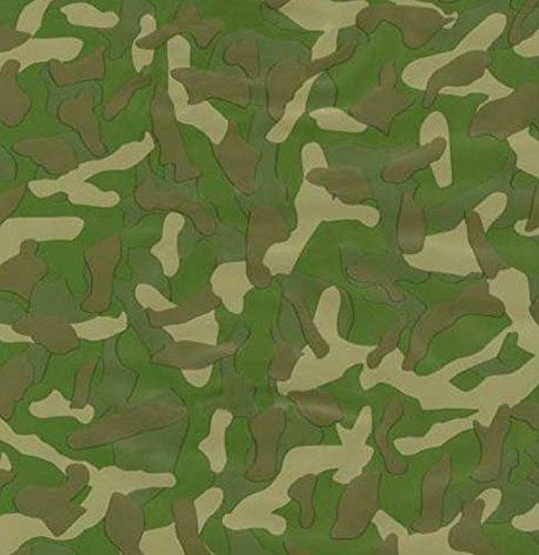 Klebefolie - Möbelfolie Camouflage grün Camo - 45 cm x 200 cm Selbstklebende Folie Motiv - Dekorfolie Selbstklebefolie