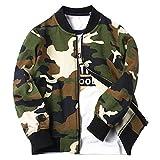 CHIC-CHIC Sweat-shirt Blouson Base-ball Garçon Bébé Enfant Manteau Sport Casual Printemps Zip Pull-over Camouflage 9-10ans