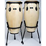 Conga Set 11'+12', Natural, incl. Stand, Black HW