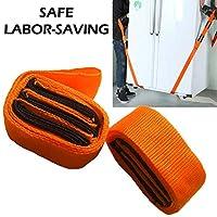 Sevia 2pcs Adjustable Easier Carry Rope Straps Hand Tool Furniture Transport Belt Lifting Moving Strap