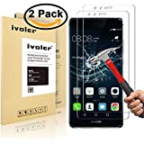 [2-Pack] Huawei P9 Protection écran , iVoler® Film Protection d'écran en Verre Trempé Glass ...