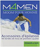 M4Men, Moom For Men, Hair Removal Accessories -  48 Premium Fabric Strips
