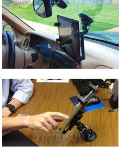 2010KHARDIO AE Car Windshield & Desk Top Mount Bracket Holder for iPad 1/2/3/4 Universal Tablet