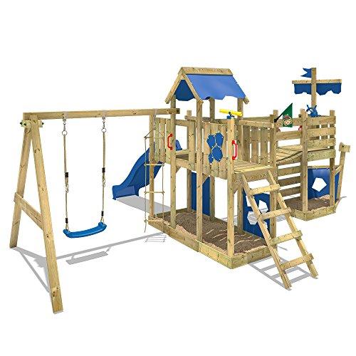 Wickey parco giochi nave arcticflyer casetta giochi da for Altalena con ponte
