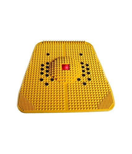 HealthIQ Plastic POWERMAT2000- Acupressure Magnet Pyramids (Yellow, 1 Cup)
