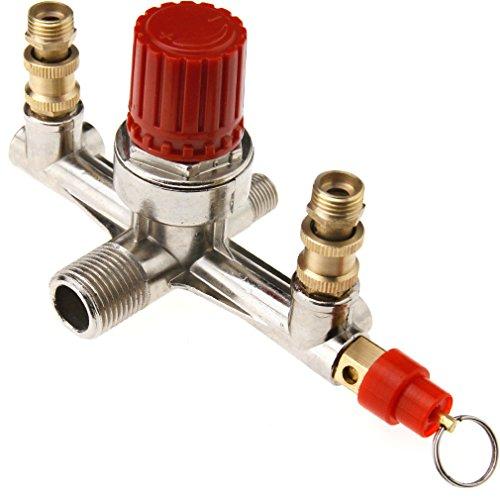 Preisvergleich Produktbild Druckwächter Druckregler Halter Für Druckluft Double Kompressor Einstellbar