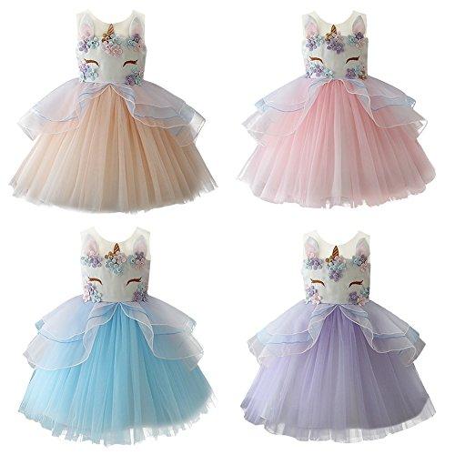 Obeeii Nina Vestido Unicornio Disfraz De Cosplay Princesa Tutu Falda