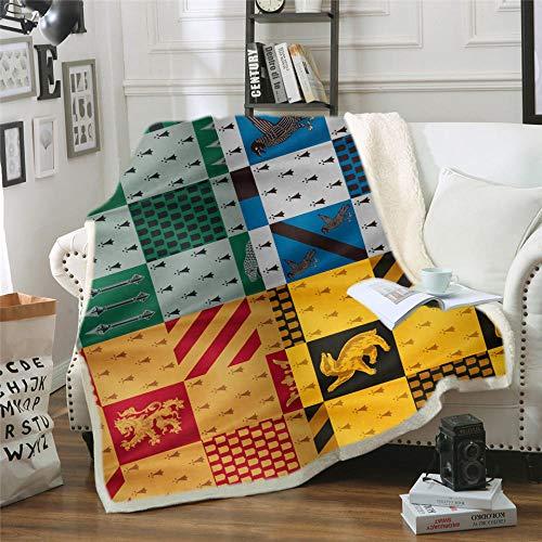 ONLYONE1 Mantas para Cama Harry Film 3D Impresión Digital Sherpa Blanket Soft...