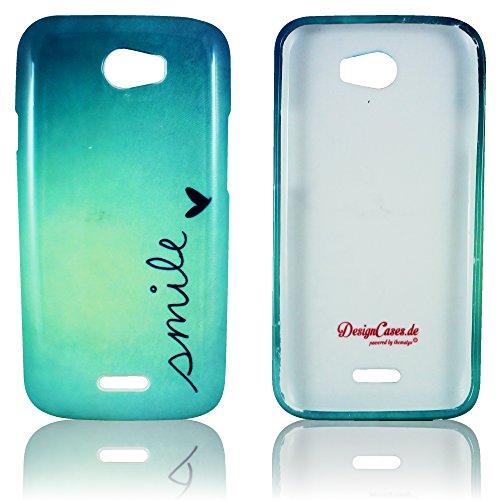Wiko Barry Schutz-Hülle Silikon Smile weiche Tasche Cover Case Bumper Etui Flip smartphone handy backcover thematys®