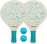 Waimea Beachball-Set Paradise 4-teilig blau