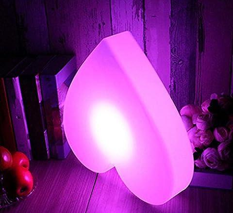 DMMSS Led Wiederaufladbare Liebe Licht Einfache Fernbedienung Schreibtisch Lampe Schlafzimmer Dekoration Nachttisch Lampe Bunten Nacht Licht (40 * 8Cm)