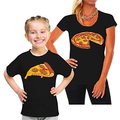 Spaß kostet Partnershirt Mutter & Tochter Familien Outfit Pizza