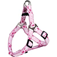 Trixie - Harnais Chien Nylon Confort Rose Heart Réglable 40-50 Cm 15 Mm
