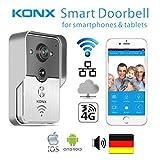 Video Door phone KONX WiFi inalámbrico Home Security Intercom Telefonillo para Android IOS teléfono tableta PC - voz en alemán