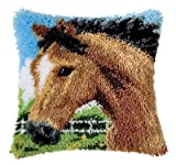 Knüpfkissen - Pferd --- 40x40cm - 18Knoten