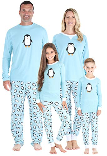 Urlaub Pjs (Our Family Pjs - Passende Feiertagsschlafanzüge mit Pinguin, Nachthemd Puppe (OFP-6500-DOLL-EU))