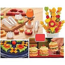 Dealglad - Juego de moldes de plástico creativos para Tartas y Galletas de Verduras, Cortador