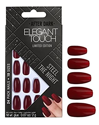Elegant Touch After Dark Trend Nails, Steel the Night