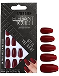 Elegant Touch Trend Nails Steel The Night Faux Ongles 24 Pièces