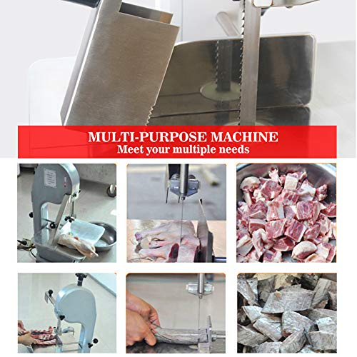 51HeJZE664L. SS500  - IDABAY Saw Bone Machine 1500w, Electric Commercial Desktop Stainless Steel Cutting Machine, Meat Mincer Grinder Cutting Thickness 4-1800mm for Meat Fish Trotters Steak Frozen Meat Big Bone