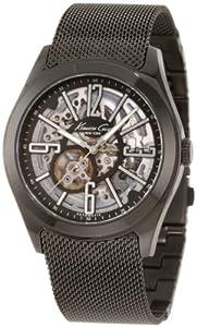 Reloj Kenneth Cole KC9100 automático para hombre con correa de acero inoxidable, color negro de Geneva Watch Group