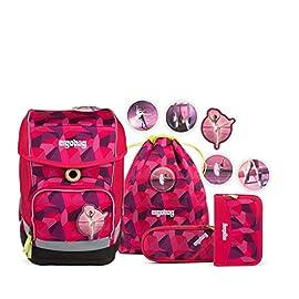 ERGOBAG-DanceBear-Kinder-Rucksack-40-cm-19-Liter-Pink-Stones