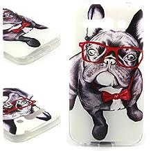Dokpav® Carcasas de Alcatel One Touch Pop C9 Caso Case, Funda del Teléfono Celular Delgado y Elegante con Material de TPU Suave para Alcatel One Touch Pop C9 (Perro)