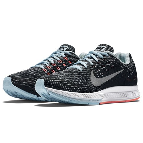 Nike W Air Zoom Structure 18, sneaker femme Ice/Metallic Silver-Ht Lv-Blk